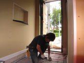 玄関土間下暖房配管