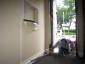 玄関土間タイル貼工事